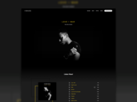 Kwabs Album Page Redesign