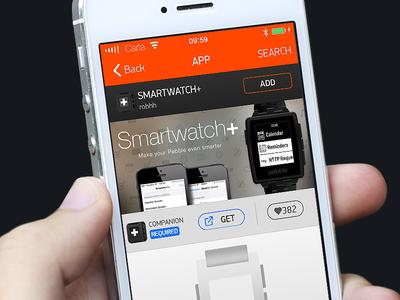 Smartwatch+ - Pebble AppStore pebble smartwatch banner appstore