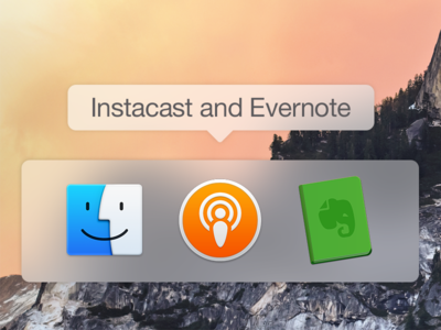 Evernote and Instacast - Yosemite Icons  evernote instacast yosemite icons mac