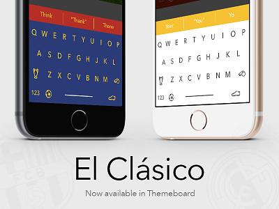 El Clásico - Themeboard barcelona barca madrid keyboard themeboard clasico football soccer barça fc barcelona