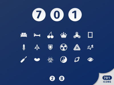 Zeus Turns 700! (2.0 update!) web vector material iso ios icon set icons icon bundle icon filled icons