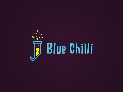 Blue Chilli - Interactive Agency Logo pepper star logo star creativity explosion vector orange logo laboratory lab interactive design corporate identity corporate chili chilli blue creative agency agency creative