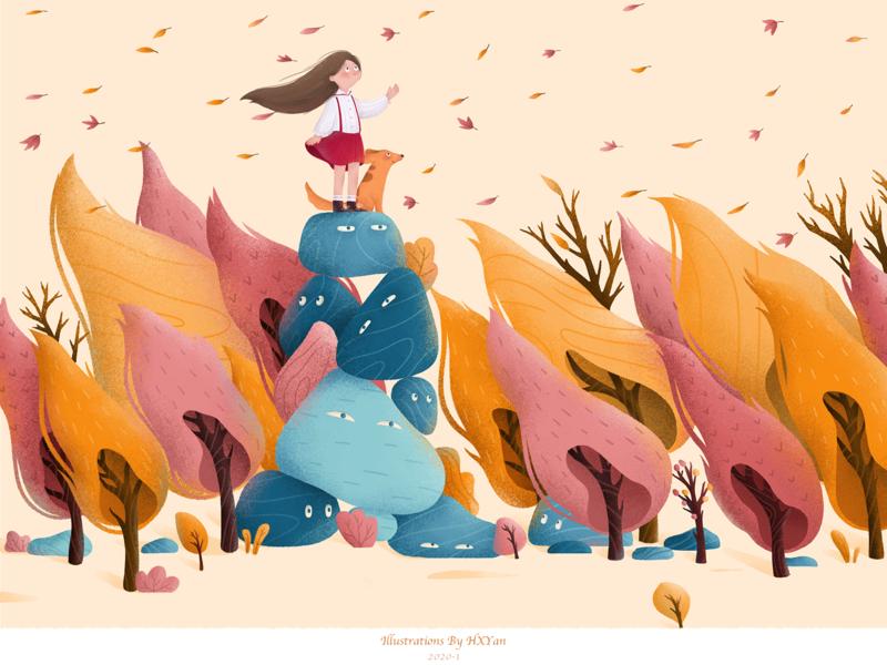 Autumn app web ios 设计 类型 插图 illustration design ui ps