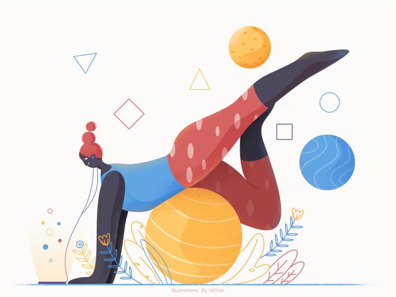 Yoga  Time app branding 应用 web 类型 illustration ui ps