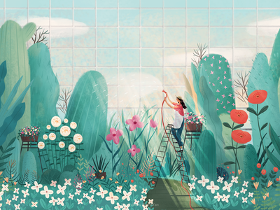 My garden icon app web 设计 插图 类型 illustration ui design ps