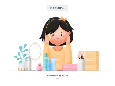 Makeup time 类型 flat ios 应用 typography branding design illustration ps ui