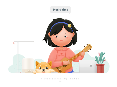 Music time 类型 flat 应用 ios typography branding 插图 design ps ui