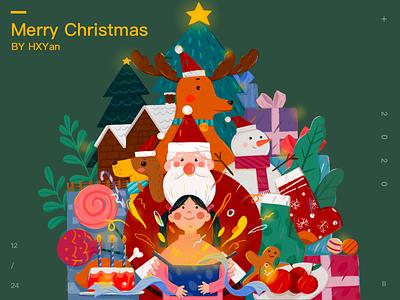 Merry Christmas 类型 flat branding typography 设计 web illustration ui ps design