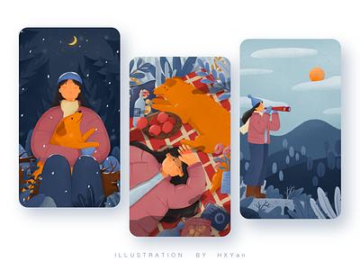Winter travel 设计 branding typography 类型 ui web 插图 illustration design ps