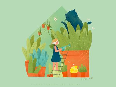 Garden vector 类型 illustration web 插图 design ps logo branding motion graphics animation graphic design ui