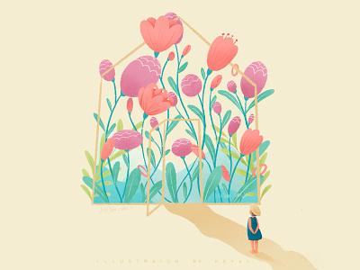 Garden vector branding logo 类型 插图 web ui illustration design ps