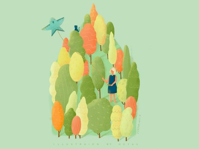 Fly a kite vector branding logo web 类型 插图 ui illustration design ps