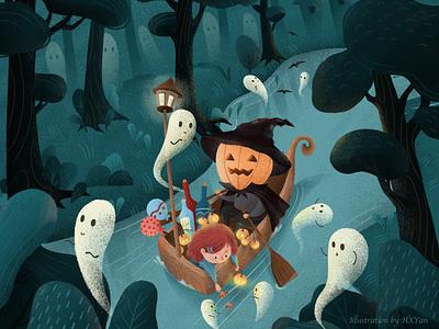 Halloween!!! halloween bash halloween design halloween type 卷筒纸 ux ui 应用 类型 插图 illustration design ps