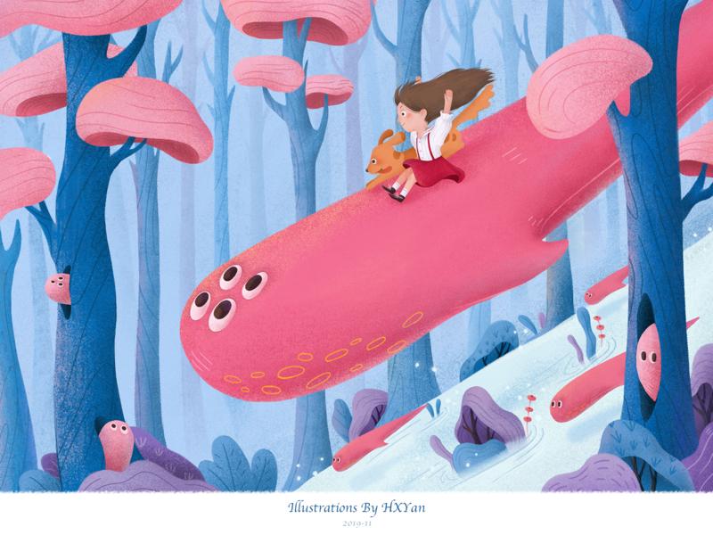 Dream forest 设计 web ux ios 类型 插图 illustration ui design ps