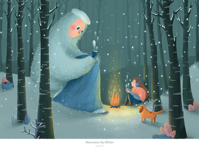 Snow forest 卷筒纸 type 应用 设计 ios illustration 插图 ui design ps