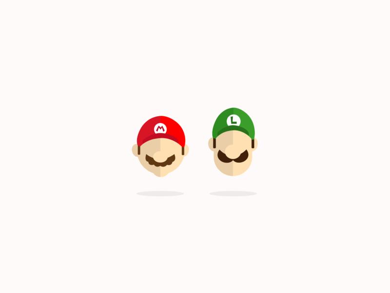 Simple illustration - Mario Bros mariokart draw drawing creative create flatdesign luigi mario digitalart digital design digital art graphicdesign design vector illustration