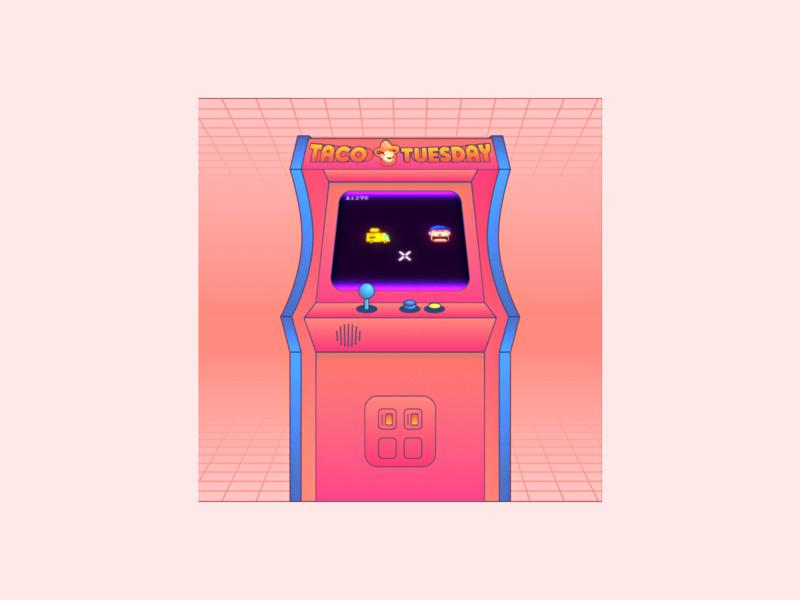 Taco Tuesday animation animation 2d video animated animation design retro arcade game arcade taco aftereffects animation illustration design