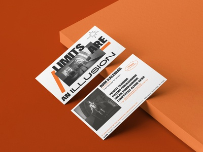 Personal coach new york orange mockup strength training coach personal lettering typography color brutalist design brutalism business card design business cards businesscard leaflet design leaflet