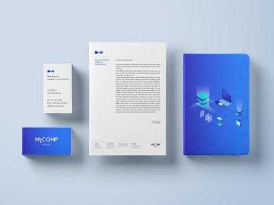 IT Company future it company gradient illustration business card design branding design dribbble logo flat