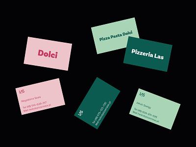 Las, pizzeria bakery pizzeria businesscarddesign businesscard dribbble logo flat
