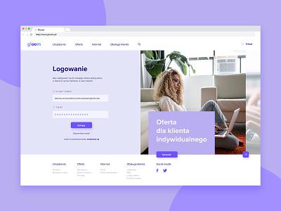 Gloom UI Design desktop mobile webdesign ux ui design color vector dribbble