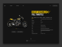 Ducati Scrambler Web UI - Product Page Redesign