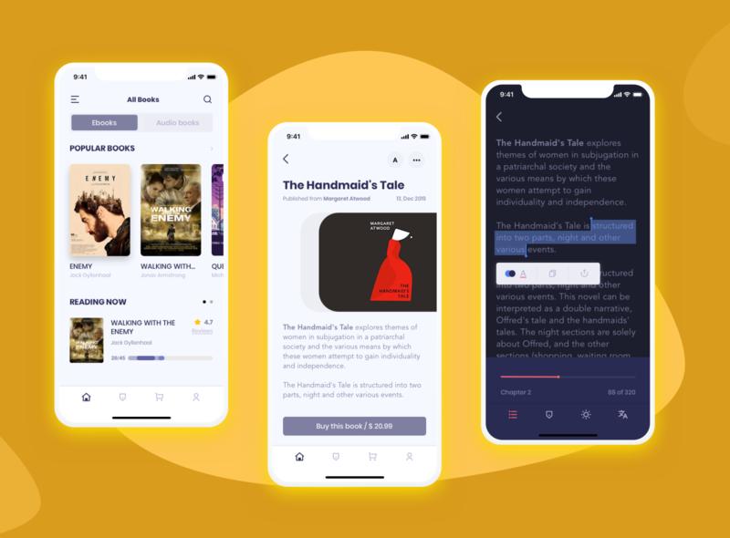 The Book uxdesign ui  ux uiux uidesign mobile ui ios books design bookapp app design apps appscreen mobile app app application