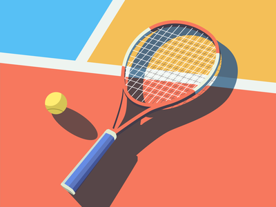 Tennis ball sport design color illustration