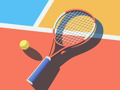 Tennis ball sport design color illustration