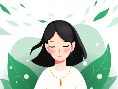 Green tea design illustration