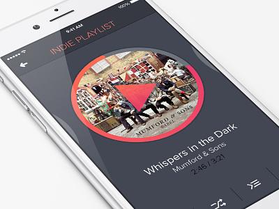 Music App app music player ios iphone flat album ux interaction ui artist