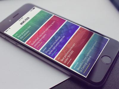 News App clean design interaction ux ui iphone ios app news