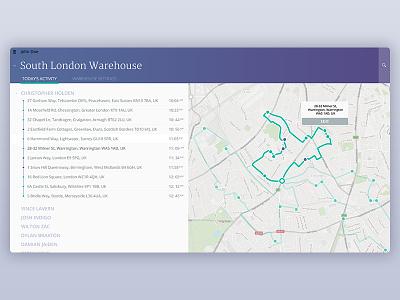 Routing App - Desktop interaction design ux ui app desktop map routing