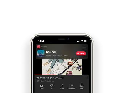 On device Music ID iphone lofi ios14 apple notification ios design ux ui