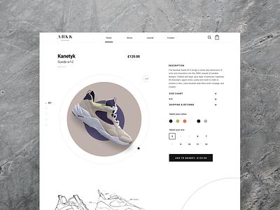 ARKK Product page product page product copenhagen arrk sneakers fashion retail store retail clothing web design webdesign web minimal design ux ui