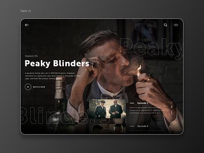 Peaky Daily UI stream streaming video shelby user inteface ui typogaphy web desgin web daily dailyui peaky peaky blinders
