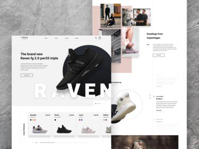 ARKK Copenhagen design minimal shop store ecommerce clothing fashion homepage home shoes sneakers trainers arkk web design webdesign web ux ui uiux