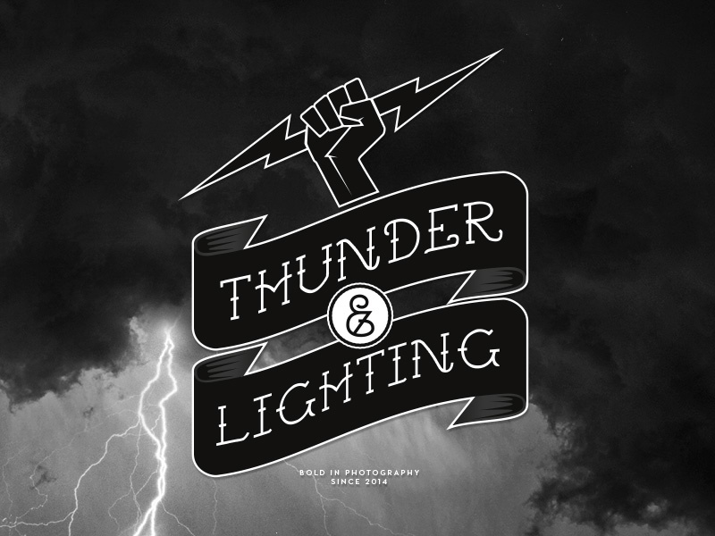 Thunder & Lighting logo logo thunder lighting lightning photography motorcycles cars bolt type
