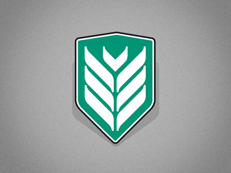 Emblem logo emblem shield water bird arrow