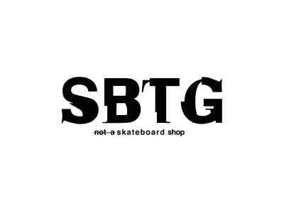 SBTG logo typography mutilated sans serif serif logotype logo sabotage sbtg