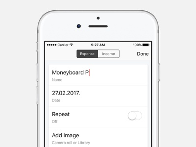 Adding expense user experience transactions income tracking money bank ios finance ux ui