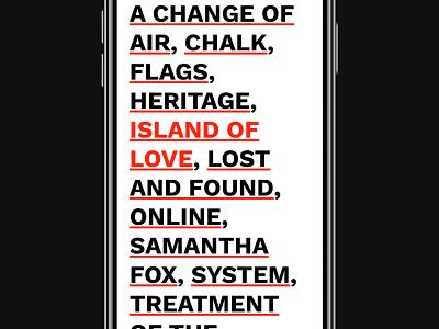 Homepage interaction responsive clean minimal typography ux ui webpage web