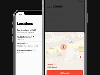 Locations screen ux simple location clean stiff list map ios minimal ui