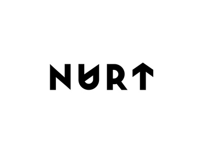 Nurt Branding symbol logo typography sketches black logo brandbook visual identity agency logo branding brand style guide