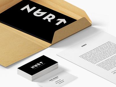 Nurt Stationary brand style guide agency logo branding visual identity stationary sketches typography logo symbol