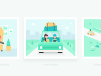 Car Sharing Illustrations