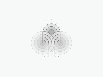 Calypso Glassworks - Logo Grid logo design geometry geometric art sun ocean branding logo grid construction grid layout grid design grid logo grid