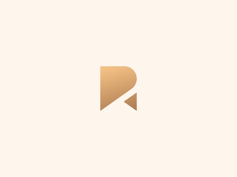 R Letter Logo Concept logo symbol exploration letter concept logo concept logo design concept logo design brand branding geometric gold letter r vector