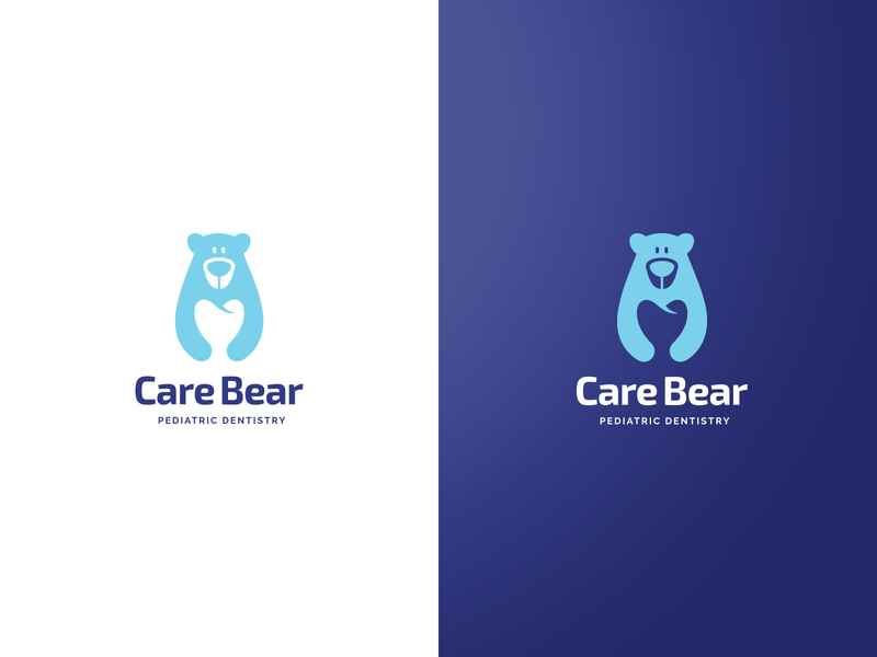 Logo Concept for a Pediatric Dentistry dentistry exploration negative space vector care children pediatric dentist tooth bear symbol branding brand logo design logo