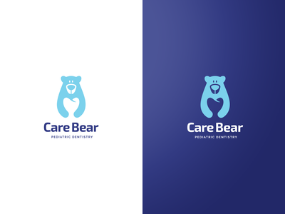 Logo Concept for a Pediatric Dentistry dentistry exploration negative space vector care children pediatric dentist tooth bear symbol branding brand logo design logo